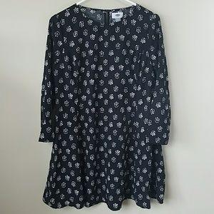 Old Navy Black Print Dress